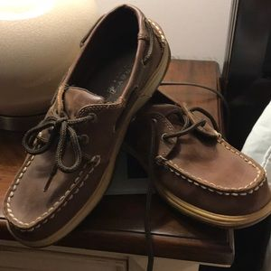 Sperry brown leather